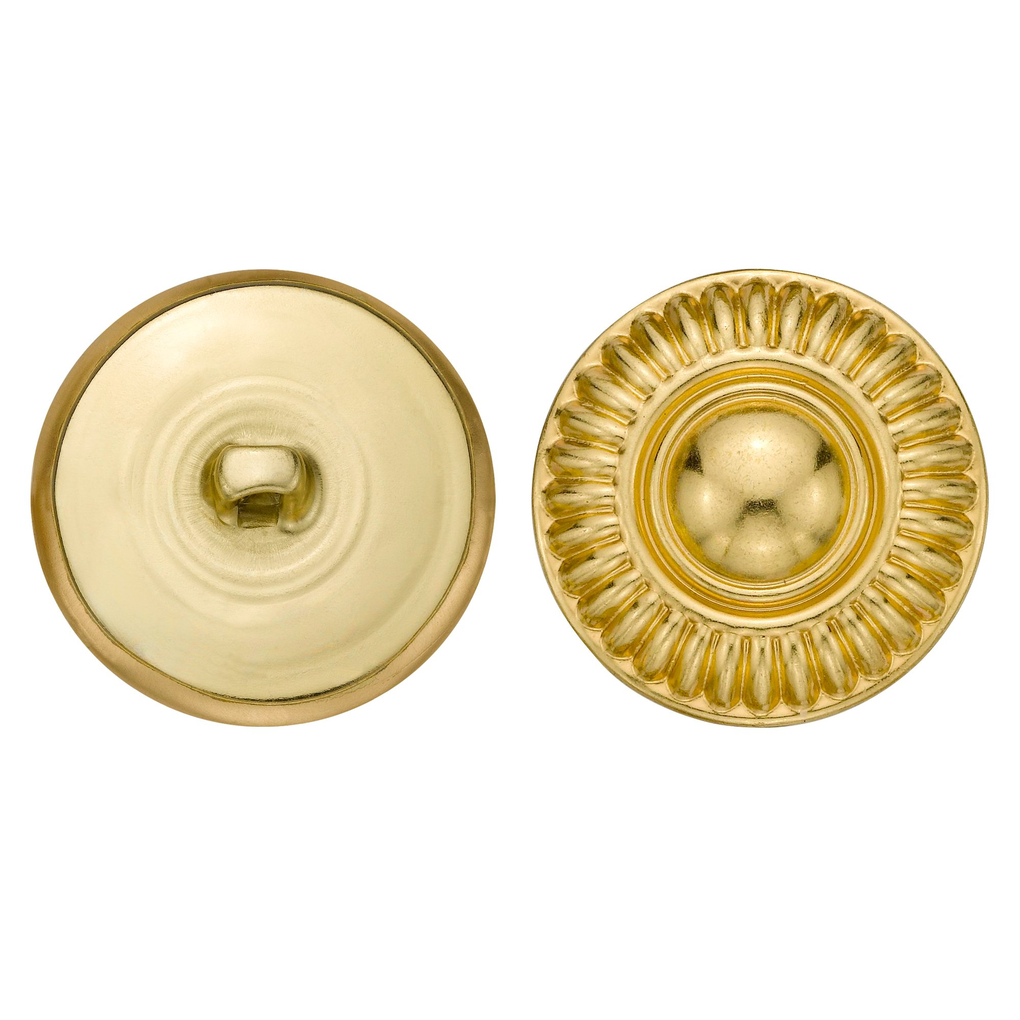 C&C Metal Products 5079 Modern Daisy Metal Button, Size 45 Ligne, Gold, 36-Pack
