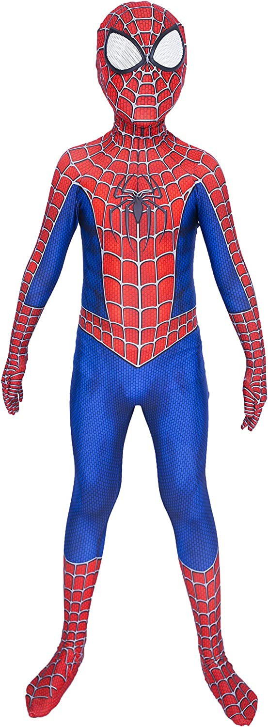 Riekinc Kids Superhero Suits Halloween Cosplay Costumes 3D Style