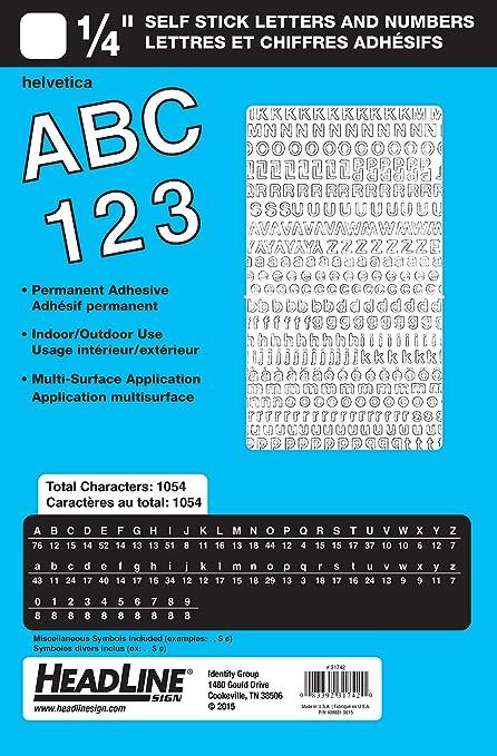 Titular cartel adhesivo vinilo letras y números, color ...