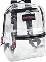 Clear Backpack With Reinforced Straps & Front Accessory Pocket - Perfect