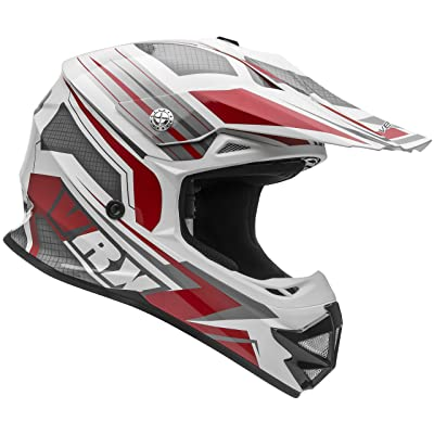 Vega Helmets VRX Advanced Off Road Motocross Dirt Bike Helmet (Red Venom Graphic, X-Large): Automotive