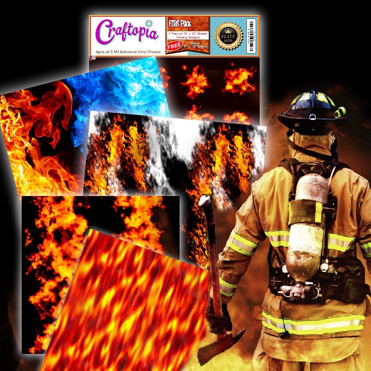 amazon com craftopia u0027s fire flames printed pattern self