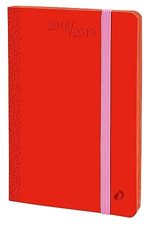 Quo Vadis 549010Q - Agenda escolar 2018-2019, horizontal, 16 meses, diseño Velvet, A6, 10 x 15 cm, color rojo (Horizontal 15 Sd)