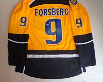 the latest 37131 96cce Filip Forsberg Autographed Jersey - Preds - Autographed NHL ...