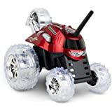 SHARPER IMAGE Thunder Tumbler 27MHz Children's Remote Control Spinning 360° Rotating Car Toy for Boys/Girls, Stunt RC Race Truck, For Two-Vehicle Fun, Combine with Black, Incompatible with Blue- RED