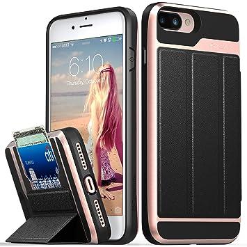 coque portefeuille iphone 8 plus rose