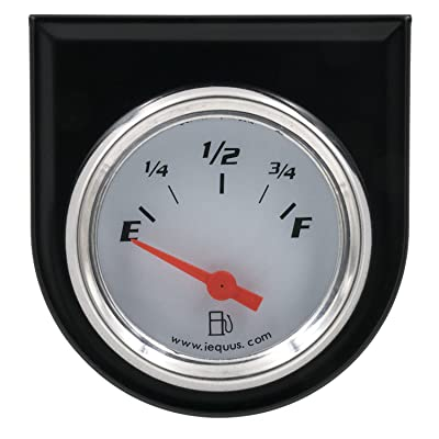 "Equus 5362 2"" Fuel Level Gauge, White: Automotive"