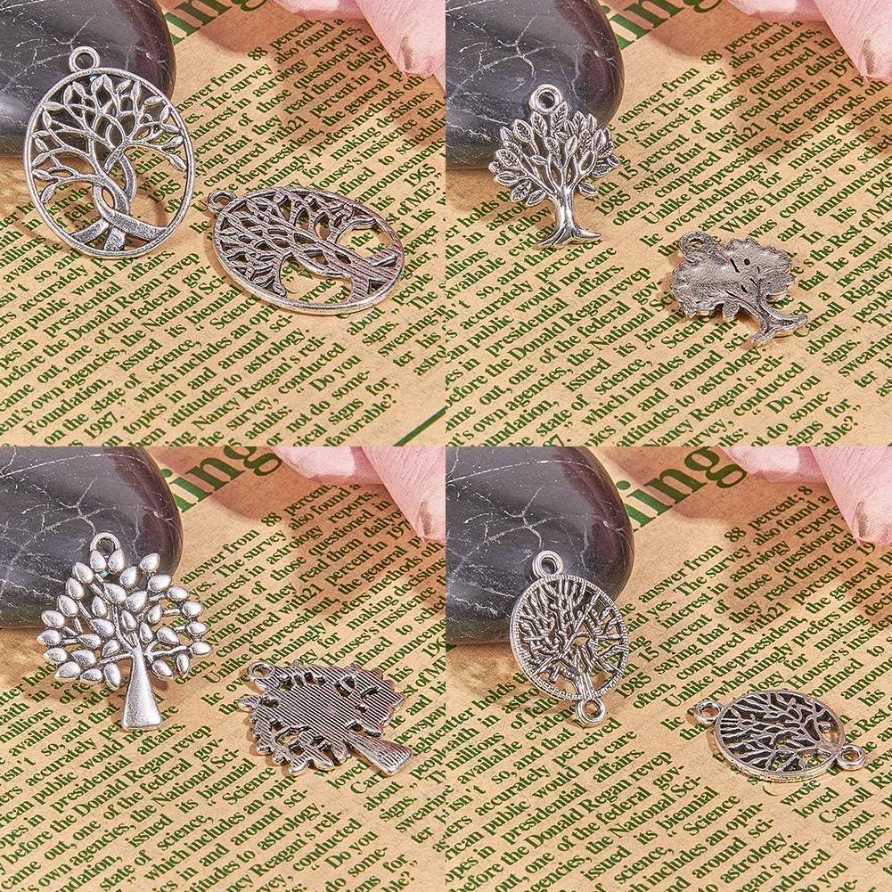 Couleur Assortie SUNNYCLUE 48pcs 12 Styles Tree of Life Connector Charms Pendentifs pour la Fabrication de Bijoux Fournitures Artisanales Conclusions de Bijoux Accessoire Collier Bracelet