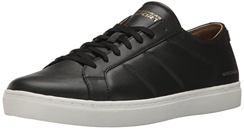 Venice-T Black/White Leather Sneakers