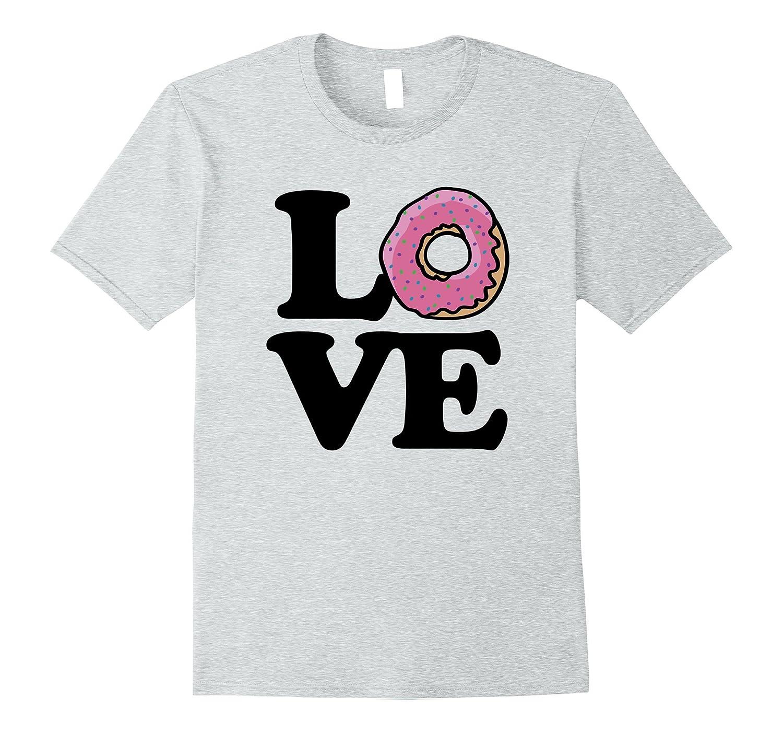 f0f91abd I love Donuts shirt donut love tee shirts with a pink donut-Vaci ...
