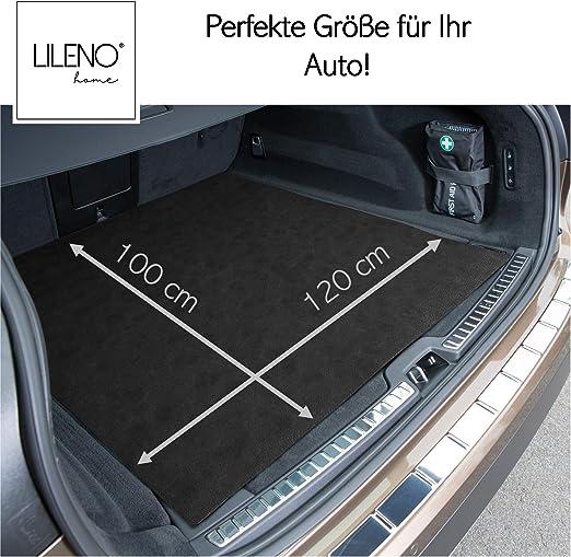 Lileno Home Antirutschmatte Zuschneidbar 100 X 120 Cm Kofferraummatte Als Kofferraumschutz Kofferraum Schutzmatte U Auto Kofferraumdecke Ideal Für Hund Kofferraumschutzmatte Auto