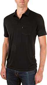 Woolly Clothing Men's Merino Polo - Moisture Wicking, Anti-Odor, Casual Athletic wear