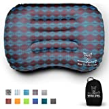 Portable Blow Up Lightweight Inflating Cushion for Sleeping Backpacking Turquoise Hiking Air Travel Navaris Inflatable Camping Pillow Beach