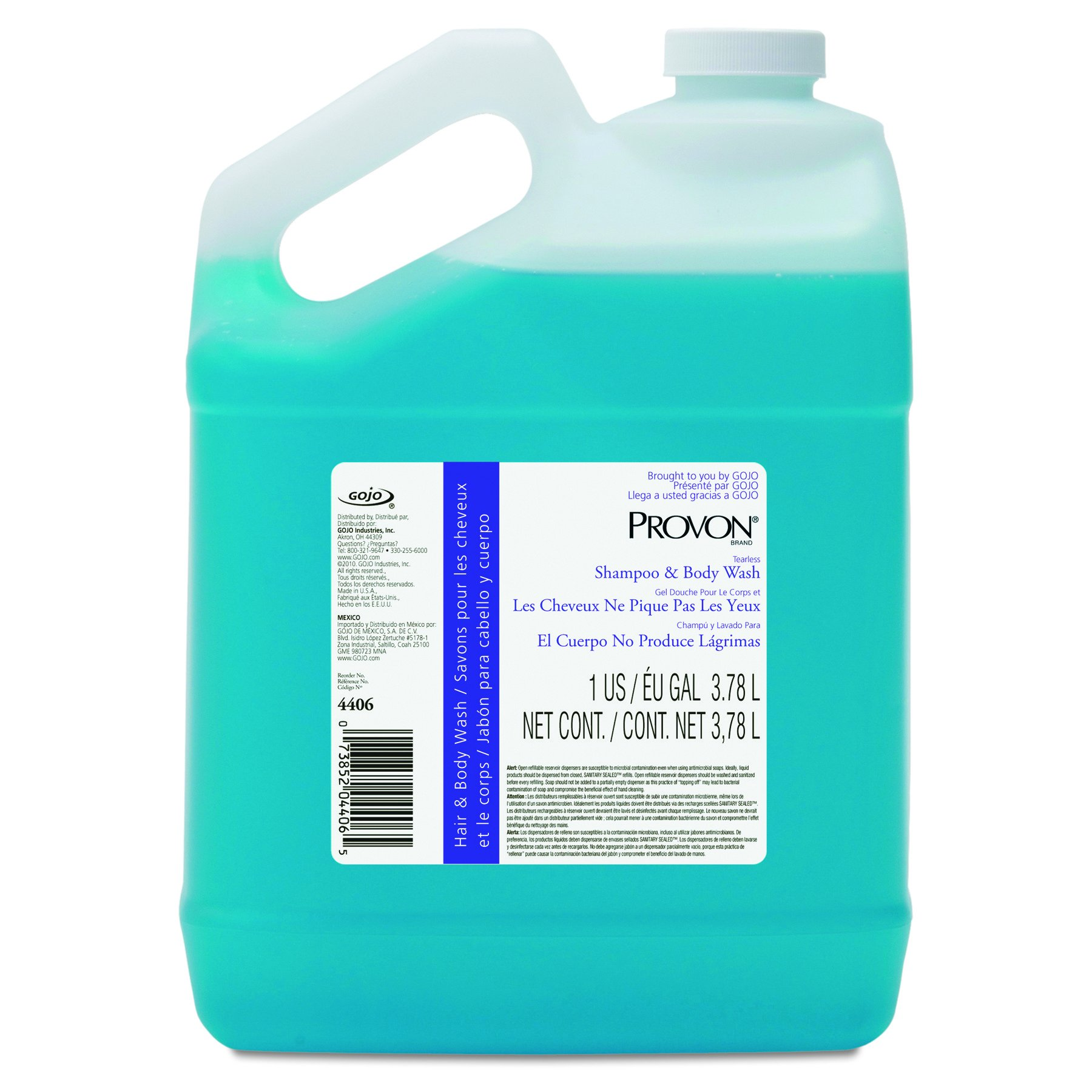 Provon 4406-04 Tearless Shampoo and Body Wash, 1 Gallon (Case of 4