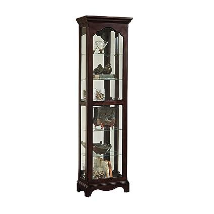 amazon com pulaski reims curio cabinet dark wood kitchen dining rh amazon com