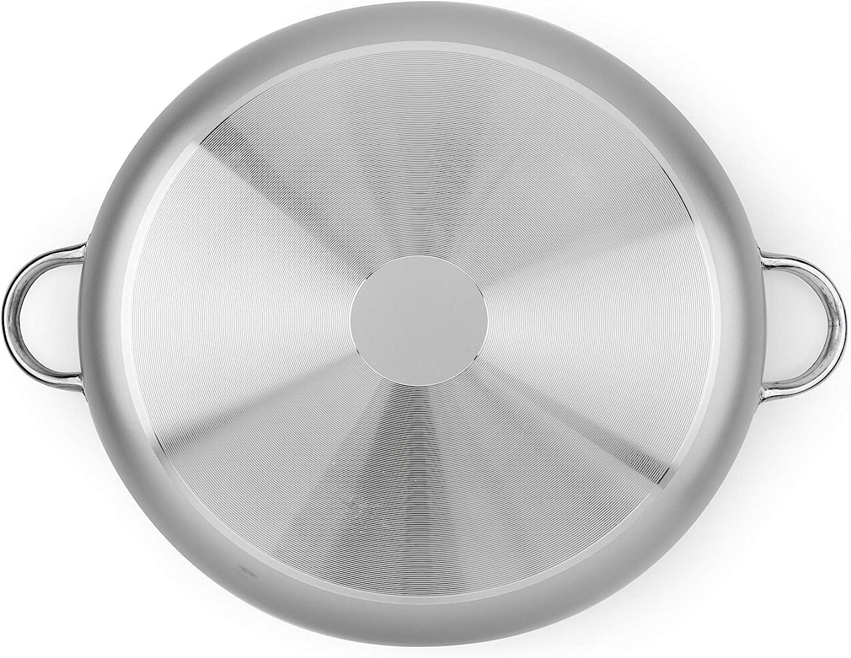 aluminio con revestimiento antiadherente Excelsa Chef Cacerola con 2 asas