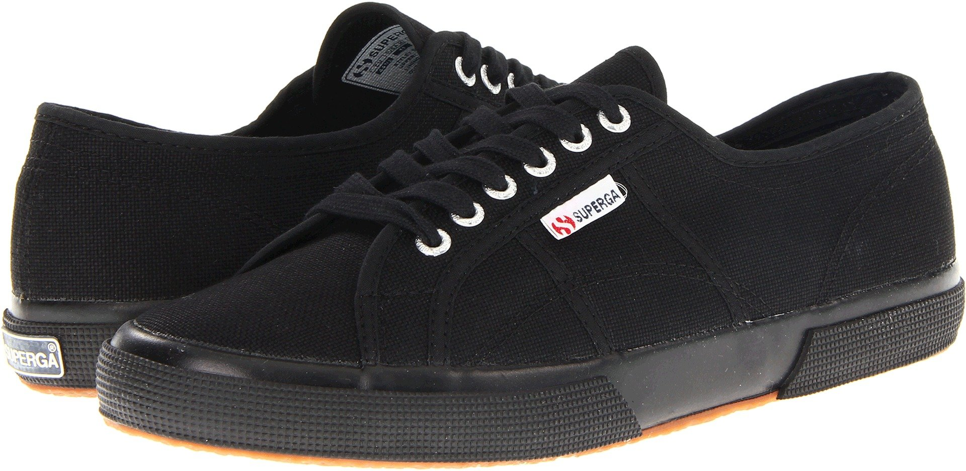 Superga Women's 2750 Cotu Sneaker, Full Black, 37 M EU (6.5 US)