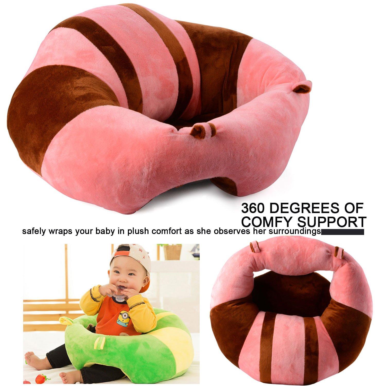 101743f4e JYCRA bebé Asientos sofá, Cartoon Cute Peluche Suave bebé Seguro  alimentación portátil puf sillón bebé cojín de Asiento para 3 - 16 Meses,  Rosa, ...