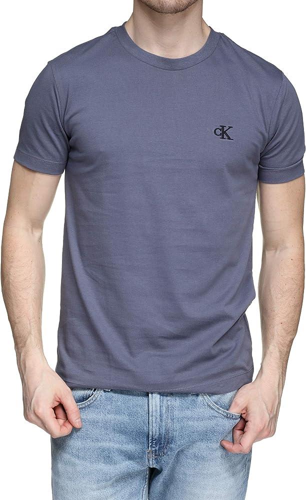 Calvin Klein - Camisa Bordado CK - J30J314544 PP3 - Gris, S, Small: Amazon.es: Ropa y accesorios