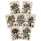 Edible Flower Seeds Variety Pack - 100% Non GMO – Nasturtium, Viola, Calendula, Chamomile, Chives, Bachelor Button, Calendula