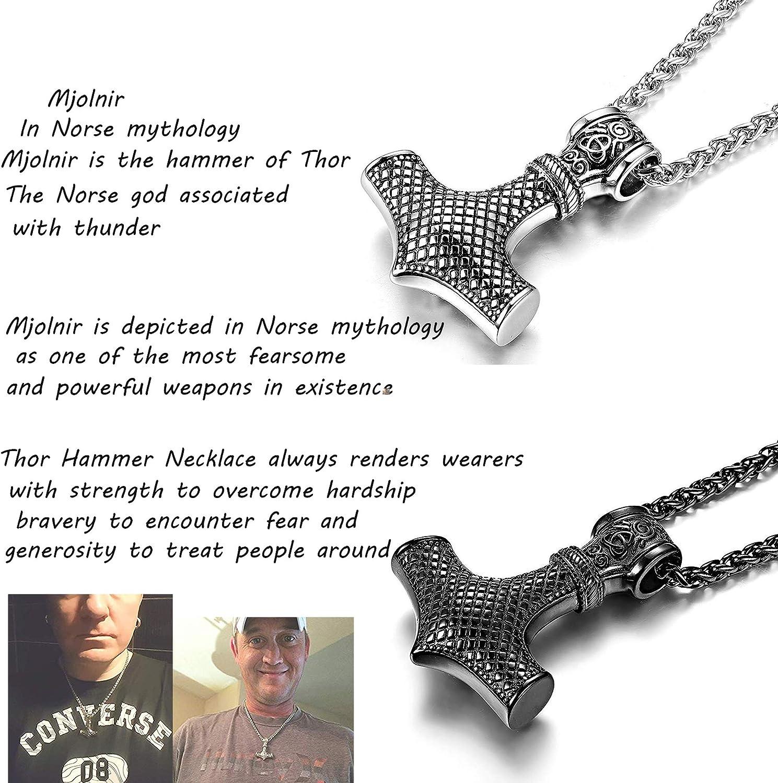 Thor/'s Hammer símbolo para Mujer camiseta Mjolnir Thor Viking Dios Norse Thunder