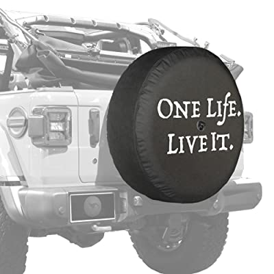 """Boomerang - 32"""" Soft JL Tire Cover for Jeep Wrangler JL (with Back-up Camera) - Sport & Sahara (2020-2020) - One Life Live It: Automotive"""