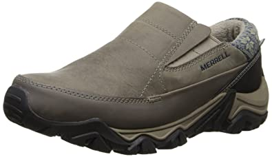 Merrell Women's Polarand Rove Moc Waterproof Winter Slip-On Shoe,Boulder,8 M