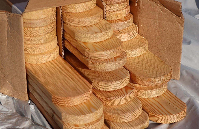 Holzhandel-OWL Zaunlatten Holzzaun Sibirische L/ärche 2x9x80 cm 30 St/ück