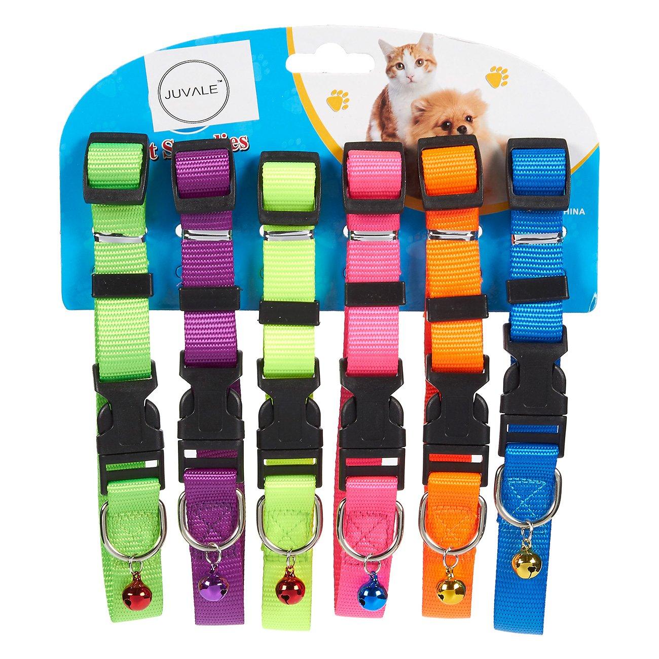 Doux en nylon pour chien ID Colliers Ensemble de est disponible en 6couleurs différentes. Ils sont classique et Convient pour les mâles et femelles Chiens et chats. Le Matériau de tissu doux n'est pas seulement confortable mais aussi en machine. Le les Co