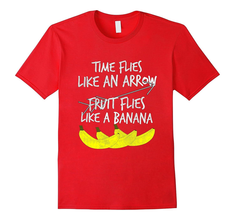 Time Flies Fruit Banana T Shirt-Teechatpro