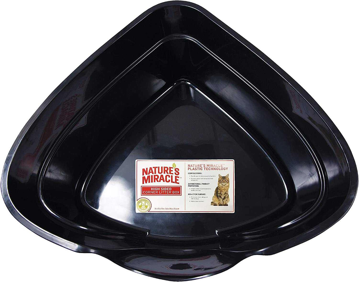 P-5913 Natures Miracle Advanced High Sided Corner Litter Box