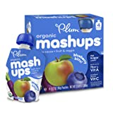 Amazon Price History for:Plum Kids Organic Fruit and Veggie Mashups, Blueberry Blitz, 3.17 Ounce, 4 Count (Pack of 6)