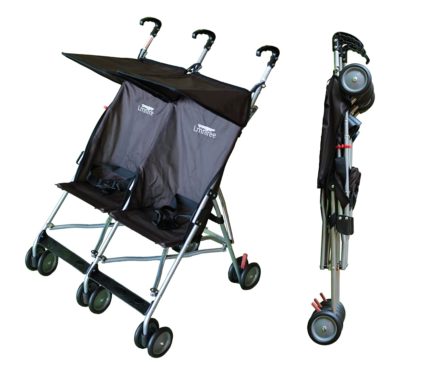 Amazon Lightweight Double Umbrella Stroller By Lmntree Grey Brown Tandem Strollers Baby