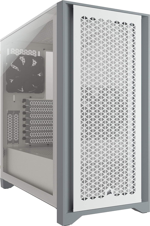 gabinete gamer mid tower atx Corsair 4000d airflow blanco