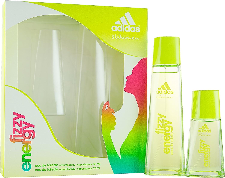 adidas Fizzy Energy 75 ml Plus 30 ml Eau de Toilette Spray Gift Set Para Usted, 1er Pack (1 x 75 ml): Amazon.es: Belleza