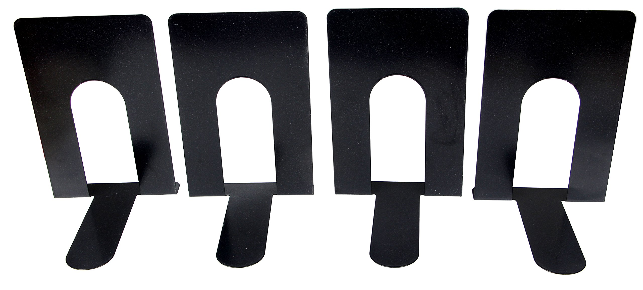 Economy Bookends Universal Black Heavy for Office,8 Inch, 4pcs(2 Pairs) by Sun Cling by Sun Cling (Image #2)