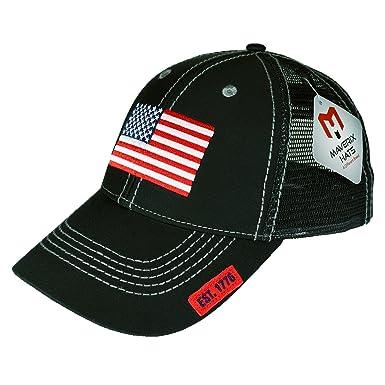 American Flag Hat Snapback - Black Mesh Back Hats Mesh Snapbacks Hats Snap Cap  Cool Snapbacks b57b12fd6e1