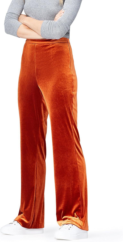 Marca Amazon - find. Pantalones de Terciopelo para Mujer