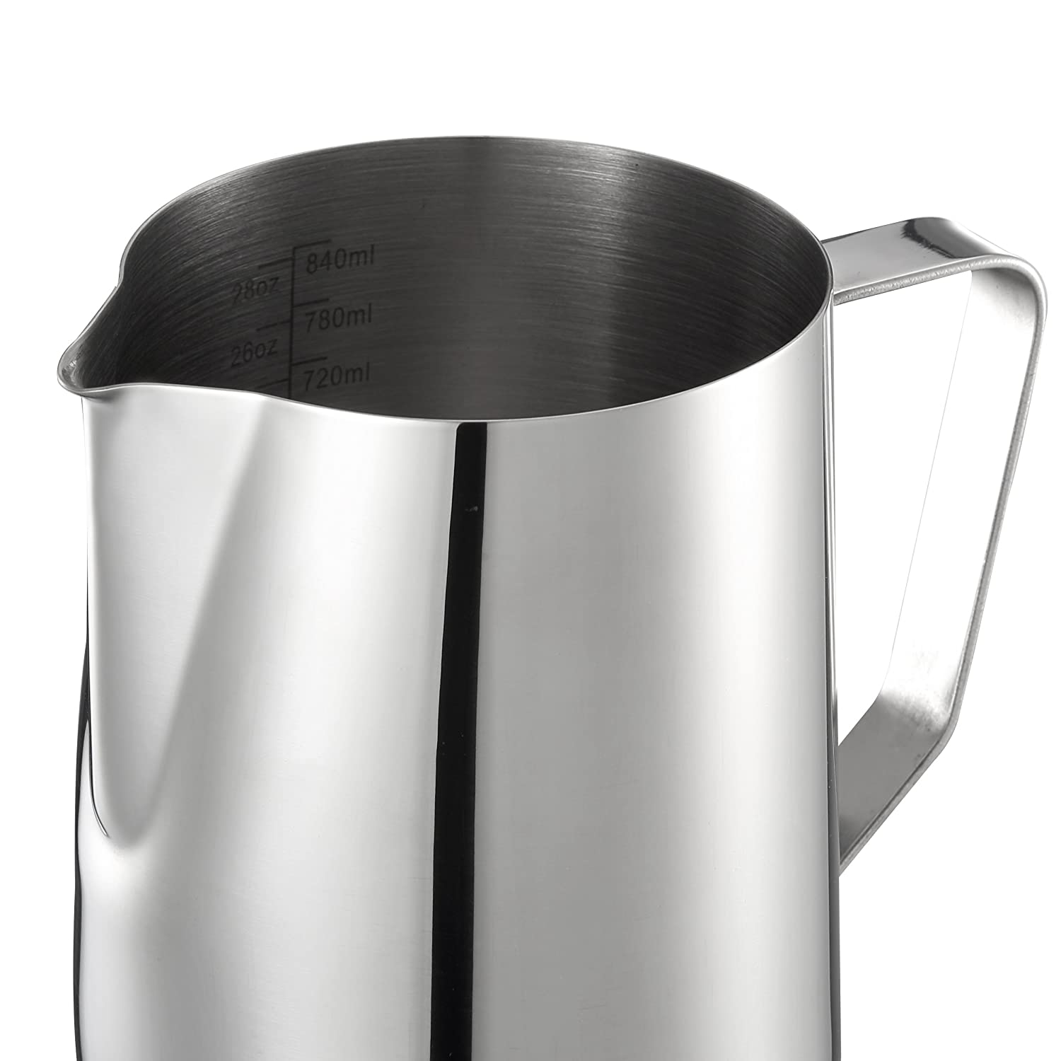 Harima - 900ml Milk Frothing Jug Measuring Pitcher Stainless Steel with Measurement Markings
