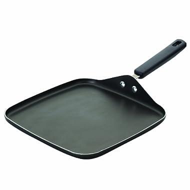 Farberware Cookware Aluminum Nonstick 11-Inch Square Griddle, Gray