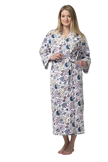8afd9e8513 Image Unavailable. Image not available for. Color  Dynasty Robes Women s  Long Printed ...