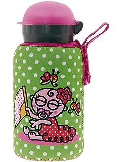 Kukuxumusu Botella Infantil de Aluminio 0,35L Rosa Tapón HIT ...