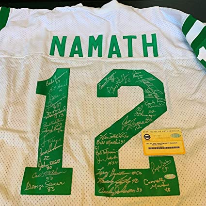 new arrival c75c5 88756 1969 New York Jets Super Bowl Team Signed Joe Namath Jersey ...