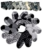 Amazon Price History for:Pro1rise® Assorted 6 Pairs Non-skid Baby Boys Toddler Anti Slip Stretch Knit Stripes Star Cotton Grips Socks Slippers 12 - 36 Months
