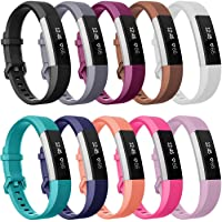 """Elobeth for Fitbit Ace Strap and Fitbit Alta/ Fitbit Alta HR band (5.5""""-6.7""""), Newest Adjustable Sport Strap Replacement Bands for Fitbit Ace and Fitbit Alta HR Smartwatch Fitness Wristbands [Just for Kids] 10-Pack"""