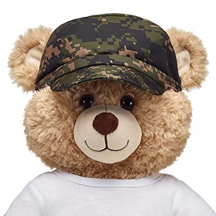 2651487800e Amazon.com  Build A Bear Workshop Green Digital Camo Messenger Hat  Toys    Games