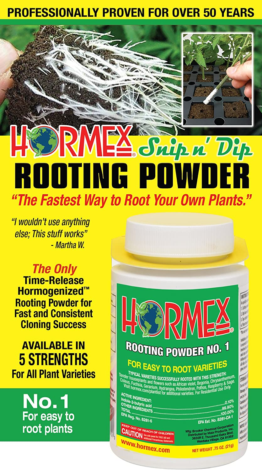 Hormex Rooting Hormone Powder #1 | for Easy to Root Plants | IBA Rooting Powder Compound for Strong and Healthy Roots