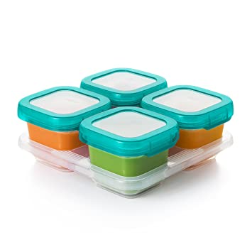 Amazoncom OXO TOT Baby Blocks Food Storage Containers Teal 6 oz