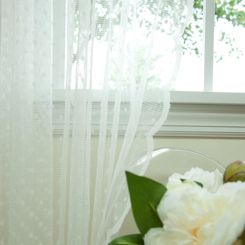FANTASIA BEAUTIFUL LARGE NET CURTAIN WHITE JACQUARD