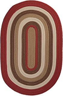 "product image for Colonial Mills Brooklyn Red Oval 4'0""x6'0"" Braided Area Rug"